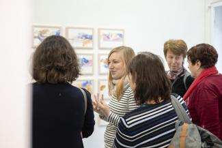 Guided Tour of the Exhibition Forms of Cooperation with Follow-up Workshop / 18. 1. 2020 / Gallery 2 DUÚL